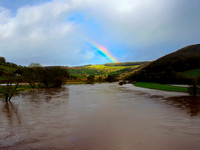 Rainbow over a Flooded River Wye